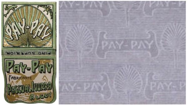 Embalagem antiga seda Pay-Pay. Pow!!